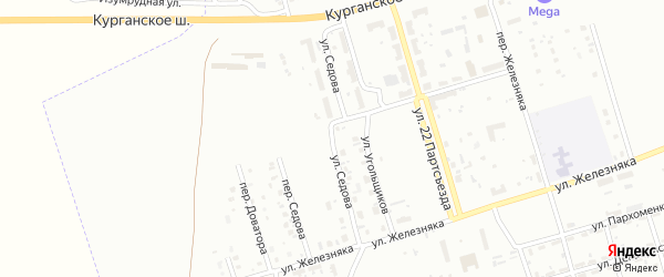 Улица Седова на карте Копейска с номерами домов