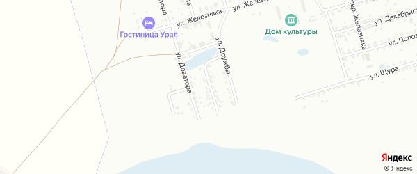 Улица 40 лет Октября на карте Копейска с номерами домов