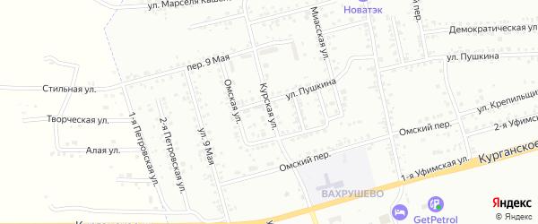 Курская улица на карте Копейска с номерами домов