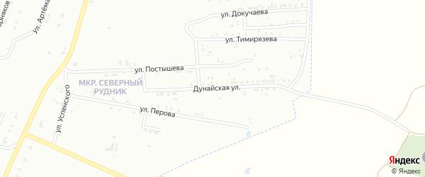 Дунайская улица на карте Копейска с номерами домов