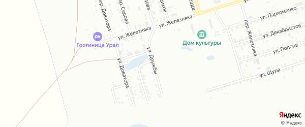 Улица Дружбы на карте Копейска с номерами домов