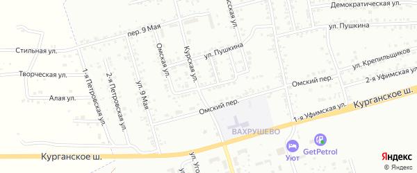 Барабинская улица на карте Копейска с номерами домов