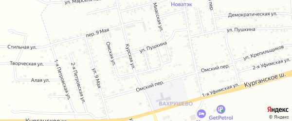 Курский переулок на карте Копейска с номерами домов