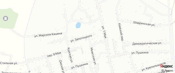 Миасская улица на карте Копейска с номерами домов