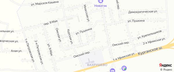 Курский 2-й переулок на карте Копейска с номерами домов