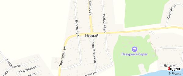 Буровая улица на карте Нового поселка с номерами домов