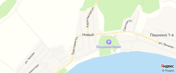Карта Нового поселка в Челябинской области с улицами и номерами домов