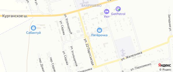 Переулок 22 Партсъезда на карте Копейска с номерами домов