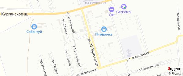Улица 22 Партсъезда на карте Копейска с номерами домов