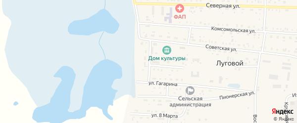 Набережная улица на карте Лугового поселка с номерами домов