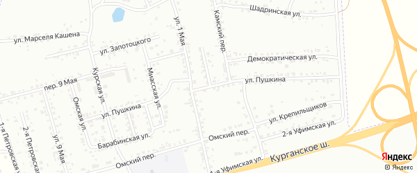 Улица Пушкина на карте Копейска с номерами домов