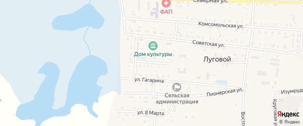 Учительская улица на карте Лугового поселка с номерами домов