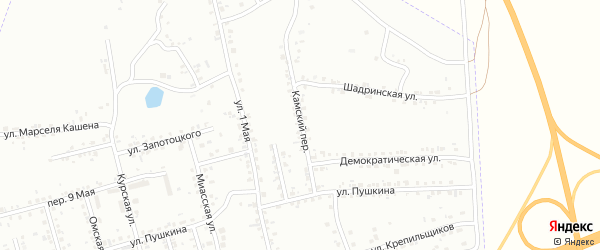 Камский переулок на карте Копейска с номерами домов