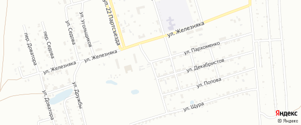 Улица Пархоменко на карте Копейска с номерами домов