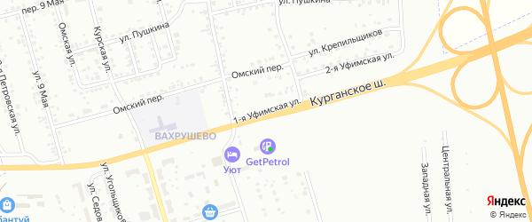 Уфимская 1-я улица на карте Копейска с номерами домов