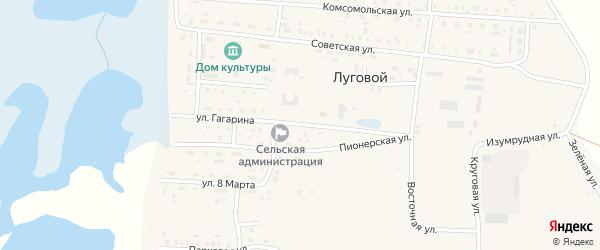 Улица Гагарина на карте Лугового поселка с номерами домов