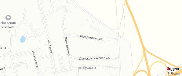 Шадринская улица на карте Копейска с номерами домов