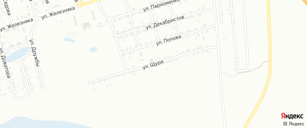 Улица Щура на карте Копейска с номерами домов