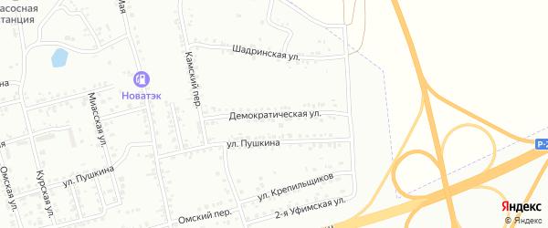 Демократическая улица на карте Копейска с номерами домов