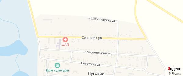 Северная улица на карте Лугового поселка с номерами домов