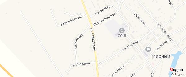 Улица Свердлова на карте Мирного поселка с номерами домов