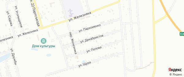 Улица Декабристов на карте Копейска с номерами домов