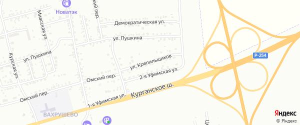 Улица Крепильщиков на карте Копейска с номерами домов