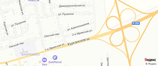 Уфимская 2-я улица на карте Копейска с номерами домов
