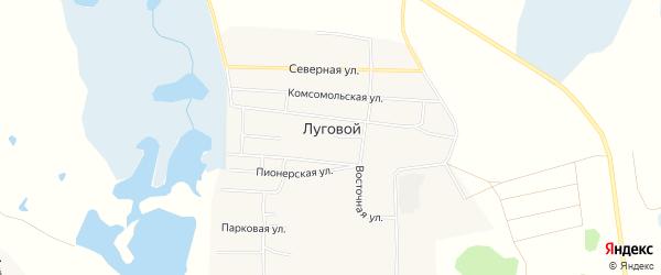 СТ Наука на карте Лугового поселка с номерами домов