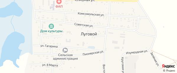 Степная улица на карте Лугового поселка с номерами домов