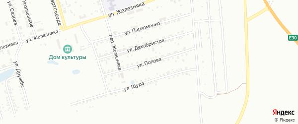 Улица Попова на карте Копейска с номерами домов