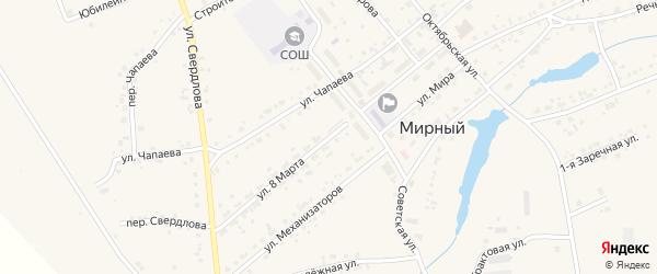 Улица 8 Марта на карте Мирного поселка с номерами домов
