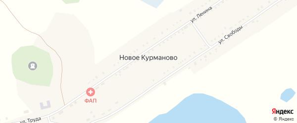 Улица Мира на карте села Новое Курманово с номерами домов