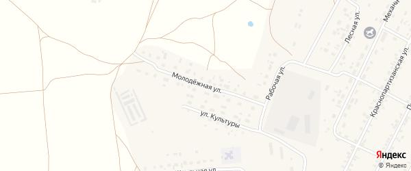 Молодежная улица на карте села Бобровки с номерами домов