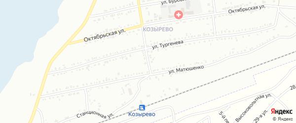 Переулок Тургенева на карте Копейска с номерами домов