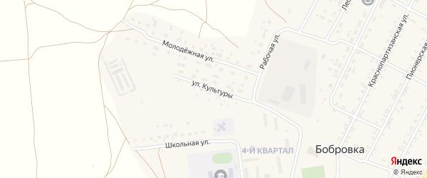 Улица Культуры на карте села Бобровки с номерами домов