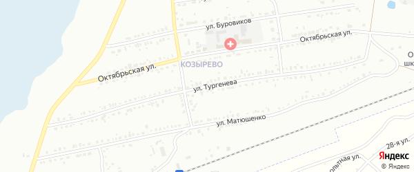 Улица Тургенева на карте Копейска с номерами домов