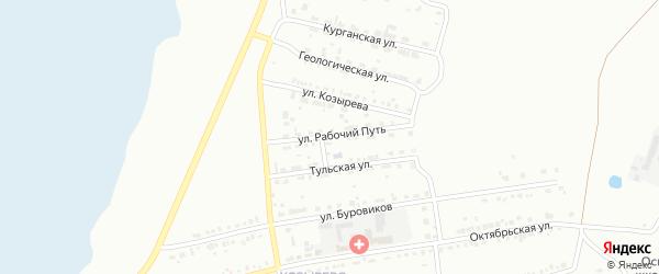 Улица Рабочий Путь на карте Копейска с номерами домов