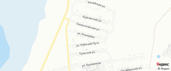 Улица Козырева на карте Копейска с номерами домов