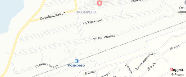 Улица Матюшенко на карте Копейска с номерами домов