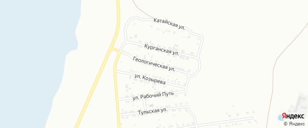 Геологическая улица на карте Копейска с номерами домов
