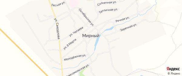 Территория СТО 31 км на карте Мирного поселка с номерами домов