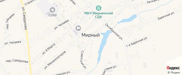 Квартал Училищное на карте Мирного поселка с номерами домов