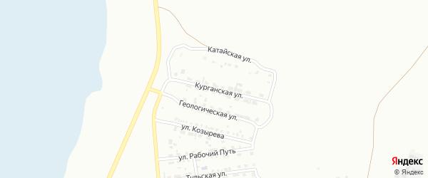 Курганская улица на карте Копейска с номерами домов