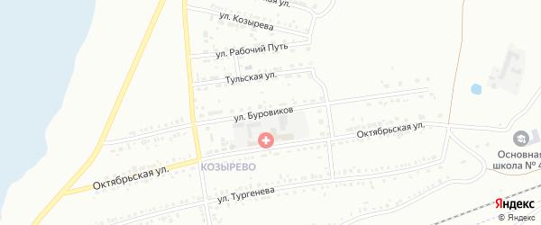 Улица Буровиков на карте Копейска с номерами домов