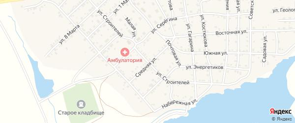 Улица Строителей на карте села Бобровки с номерами домов