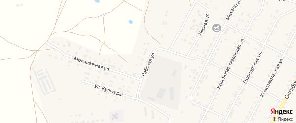 Рабочая улица на карте села Бобровки с номерами домов