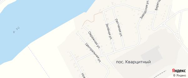 Овражная улица на карте Кварцитного поселка с номерами домов