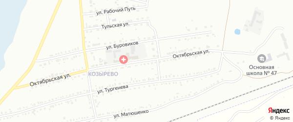Улица Октябрьская (бывший РП Вахрушево) на карте Копейска с номерами домов
