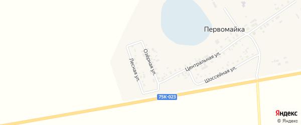 Озерная улица на карте поселка Первомайки с номерами домов